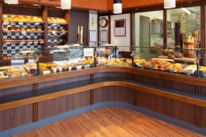 commercial wood floor modern bakery