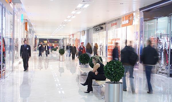 shopping centre resin floor commercial