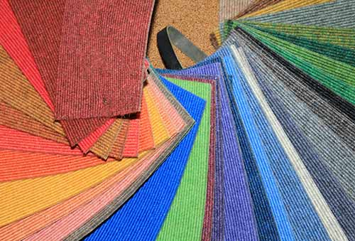 corded carpet sheet swatches