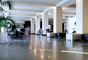 resin hotel lobby